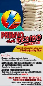 CONGRATULATIONS to the following winners of 25 kilo quality rice for PREMYO SA RESIBO Raffle Promo for the Month November 2017: