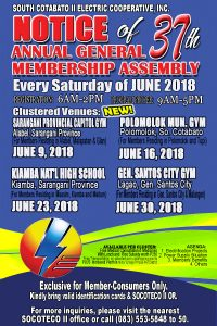 NOTICE OF 37TH ANNUAL GENERAL MEMBERSHIP ASSEMBLY